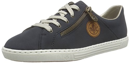Rieker Cayenne Women 14 top Sneakers Damen Pazifik L0943 Low Blau UUwZrn7q4