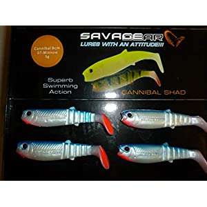 Savage Gear Loose Body Cannibal Shads 8cm 4 Pack