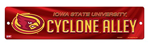 NCAA Iowa State Cyclones 16-Inch Plastic Street Sign -