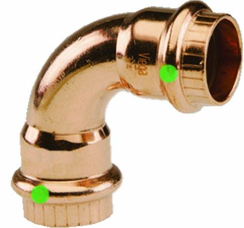 Viega 77317 ProPress Zero Lead Copper 90-Degree Elbow with 1/2-Inch P x P, 10-Pack by Viega
