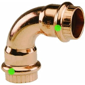 Viega 77317 ProPress Zero Lead Copper 90-Degree Elbow with 1/2-Inch P x P, 10-Pack