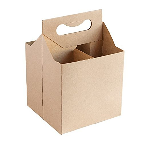 - 12 Oz Cardboard 4 Pack Beer Bottle Carrier Kraft Weather Proof!4 Per Order