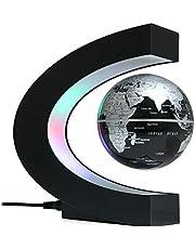 Coriver Zwevende wereldbol met led-verlichting Aanraakschakelaar Magnetische wereldbollamp C-vormen Levitatie Wereldbollamp voor bureaudecoratie Gadgets