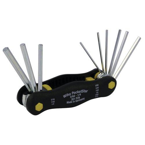 Wiha 35197 Inch Pocket Star Fold Up Key Set with Large Ergo Handle, ()