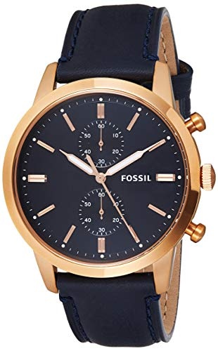 Fossil Analog Display Leather Strap Watch For Men, FS5436