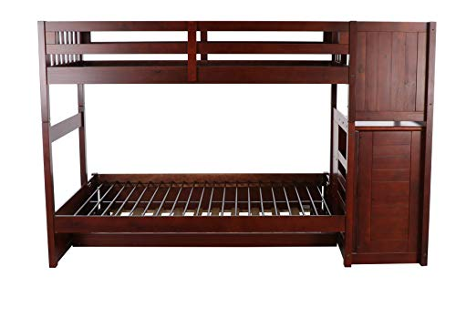 home, kitchen, furniture, bedroom furniture, beds, frames, bases,  beds 12 image Discovery World Furniture Mission Twin Over Full Staircase in USA