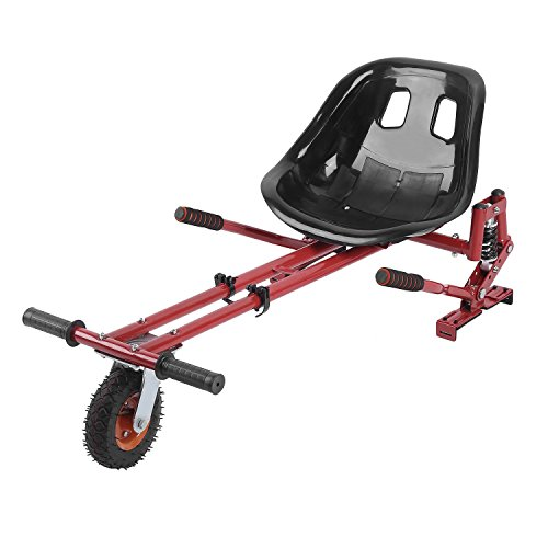 Big Wheel Go Kart変換キットfor Hoverboards – 長さ調整可能衝撃吸収機能Go Kart Hover Seat hoverkart forセグウェイHoverboardアクセサリー電動スクーターフィットすべてHeights All Ages