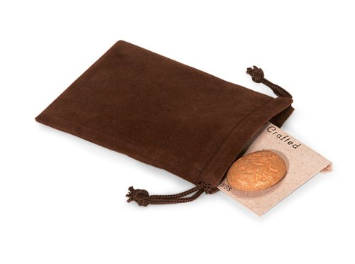 Velour Drawstring (Pack Of 25, Solid Chocolate Jewelry Pouches 3