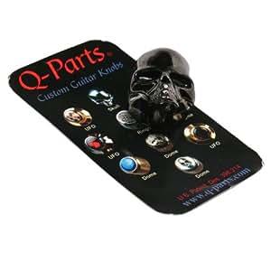 q parts skull ii custom guitar volume tone knob black chrome guitar part musical. Black Bedroom Furniture Sets. Home Design Ideas