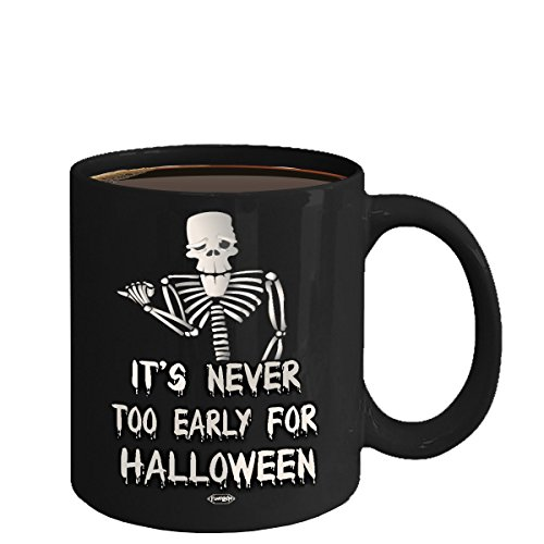 Funny Coffee Mug, Spooky Little Halloween, DIY, gift idea to make every day Halloween! Halloween Mugs, Halloween Black Coffee Tea Mug Cup (Diy Halloween Fails)