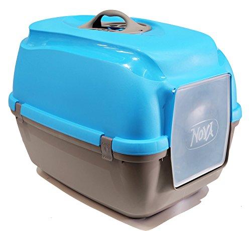 BPS (R) Bandeja Sanitaria Plástica Cerrada Gran Tamaño Color Azul 65* 40* 40,5cm BPS-4162-A