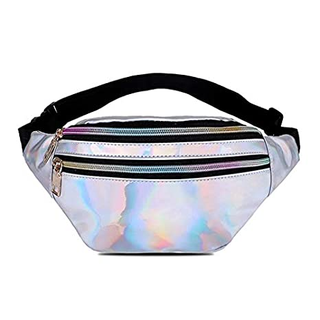 5c7431f97630 Amazon.com | Moonnight Store AIREEBAY Holographic Waist Bags Women ...