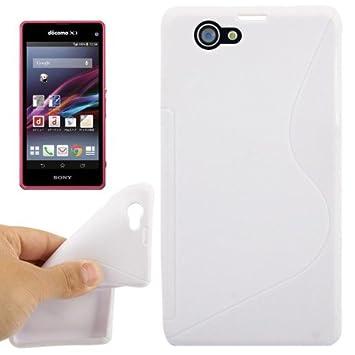 Carcasa Sony Xperia Z1 mini blanco S Line Anti-Skid Frosted ...