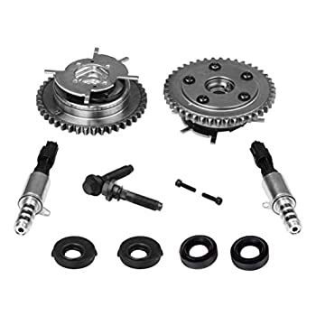 Image of Solenoids Variable Camshaft Timing Cam Phaser Kit - Replaces 3R2Z6A257DA, 917-250, 3L3Z 6279-DAP, 8L3Z-6M280-B - Fits Ford F-150, Expedition and more - Triton 5.4L, 4.6L 3V Engines - Sprockets, Bolts, Solenoids