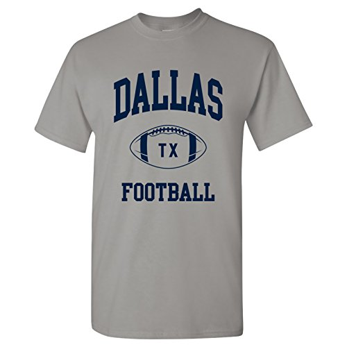 Dallas Classic Football Arch Basic Cotton T-Shirt - 3X-Large - Gravel
