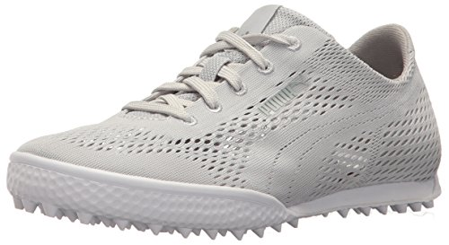PUMA Golf Women's Monolite Cat Woven Golf Shoe, Glacier Gray, 7 Medium US
