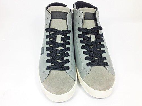 D.A.T.E. - Zapatillas para deportes de exterior de Piel para hombre Gris gris 41