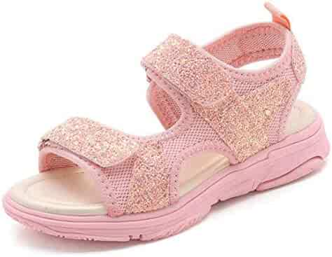❤️Rolayllove❤️ Boy Girl Sandals Hiking Athletic Open-Toe Beach Sandals Kids Summer Flat Shoes Sequins Bling Sports Sneakers Sandals