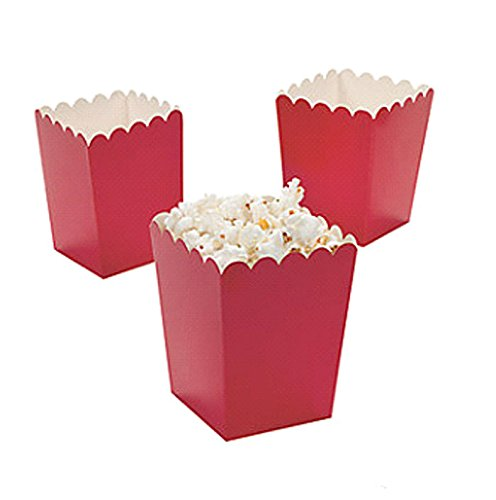 FUN EXPRESS Red Miniature Popcorn Paper Box (Package/24) (Mini Red Popcorn Boxes compare prices)