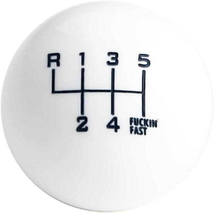 DEWHEL Red//Black Fing Fast Shift Knob for 6 Speed Short Throw Shifter 12X1.25 10X1.5 10X1.25 8X1.25