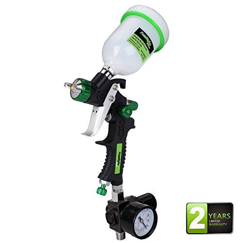 Price comparison product image PowRyte Elite Composite Mini HVLP Gravity Feed Air Spray Gun with Regulator