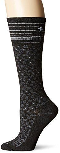 Sockwell Women's Floral Pindot Socks, Small/Medium, Black