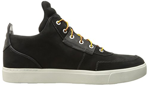 Mens Da Uomo Amherst High Top Chukka Fashion Sneaker Jet Black Quaranta Pieno Fiore