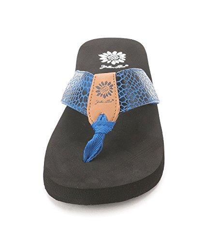Yellow Box - Sandalias de vestir para mujer azul marino