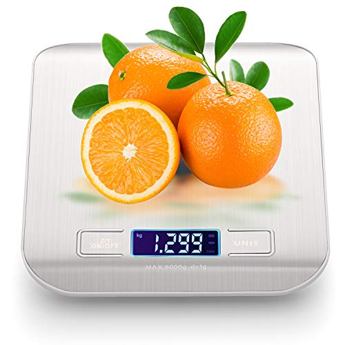 Digital Scales Weight Grams and Ounces, Multi-function Kitchen Scales Digital Weight Food Weight Scale is Easy to Use, Clean and Auto Shut-off Food Scales Digital Weight Grams and Oz(With 2 Batteries)