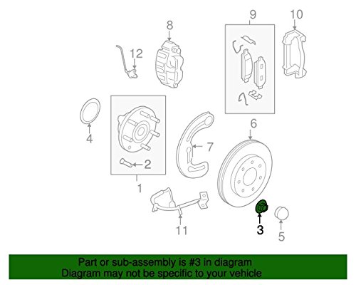 Ford W706-540S900, Axle Nut