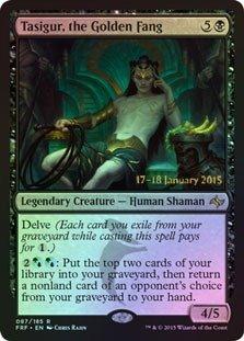 Magic: the Gathering - Tasigur, the Golden Fang (087/185) - Prerelease & Release Promos - Foil