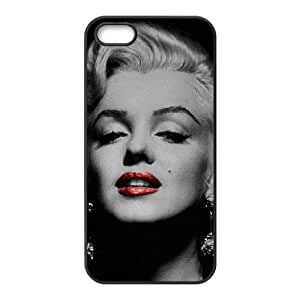 Marilyn Monroe 005 funda iPhone 4 4S caja funda del teléfono celular del teléfono celular negro cubierta de la caja funda EOKXLKNBC11164