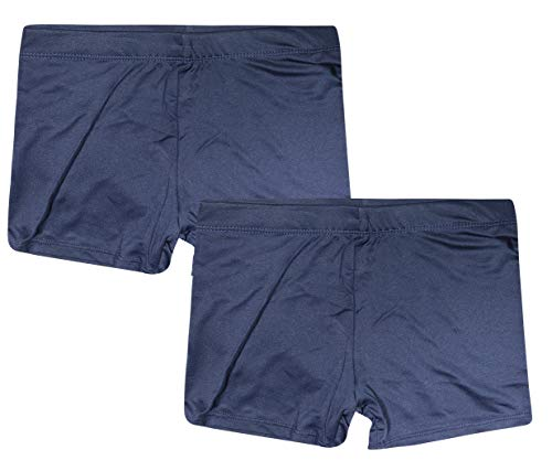 Rene Rofe Girls Under Dress Dance and Bike Short (2 Pack), Navy/Navy, Size Small / 6-6X