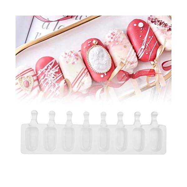 Fditt Stampi a ghiacciolo Stampi a 8 cavità Stampi in Silicone Stampi a Stampo in Silicone Stampo in Silicone con stampi… 6 spesavip