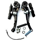 Genenic 2 Pack Bike Brakes,Aluminum Alloy Mountain Bike V Brakes Set Replacement Fit Most Bicycle, Road Bike, MTB, BMX