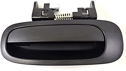 Exterior Outer Outside Door Handle Textured Black Driver Side Rear