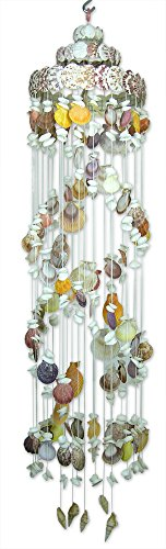 Sea Shell Mobile Wind Chime Natural Spiral Shaped Nautical Beach Decor - 46