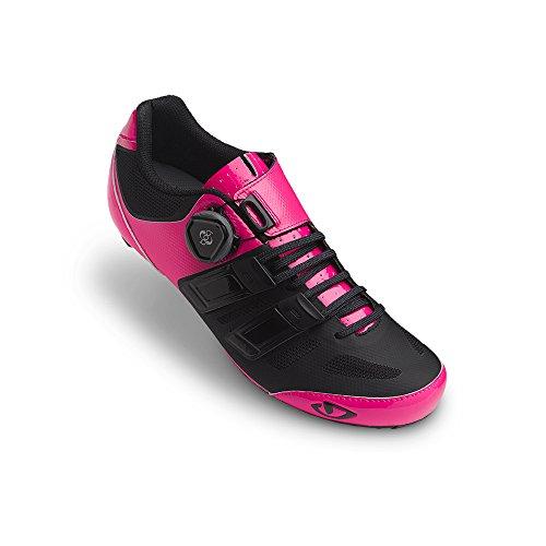 Giro Raes Techlace Rosa / Nero Scarpe Da Bici Da Donna Taglia 36