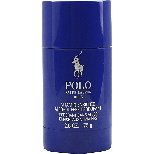 POLO BLUE by Ralph Lauren DEODORANT STICK ALCOHOL FREE 2.6 OZ for MEN ---(Package Of 6) by Polo Ralph Lauren