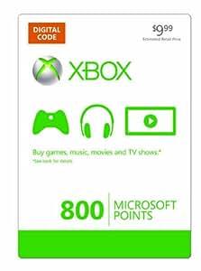 Xbox LIVE 800 Microsoft Points - Xbox One Digital Code