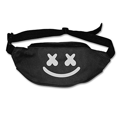 - Marshmello Face Marshmello Tour Waist Bag For Men Women Black (2 Colors)