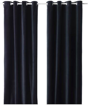IKEA VELVET CURTAINS 55 x 118 Black