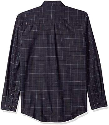 Van Heusen Men's Big and Tall Flex Long Sleeve Button Down Stretch Windowpane Shirt
