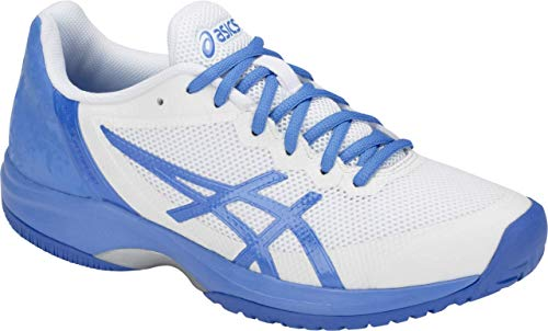 (ASICS Gel Court Speed Women's Tennis Shoe, White/Blue Coast, 8 B US)