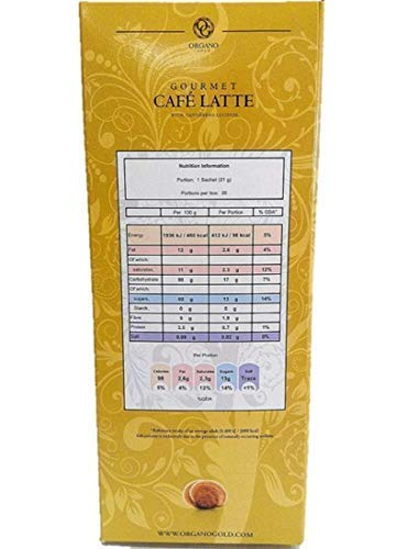 8 Boxes Organo Gold Gourmet Cafe Latte with 100% Organic Ganoderma Lucidum Extract - HOS by Organo Gold (Image #3)