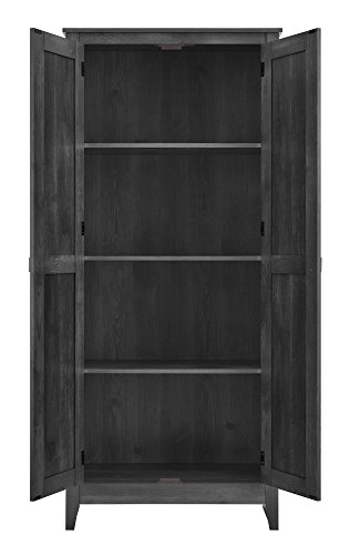 Ameriwood Home Farmington Wide Storage Cabinet, 31.5″, Rustic Gray