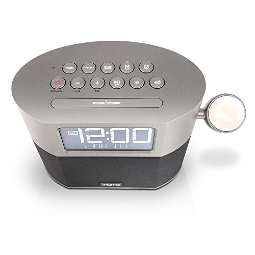 iHome Bluetooth Alarm FM Clock Radio Speakerphone, Watch and USB