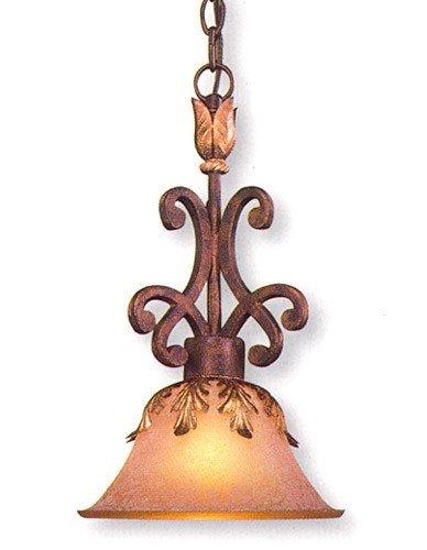 - Metropolitan N6240-355, Zaragoza Mini Cone Pendant, 1 Light, 100 Total Watts, Bronze