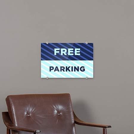 Stripes Blue Premium Acrylic Sign 18x12 5-Pack CGSignLab Free Parking
