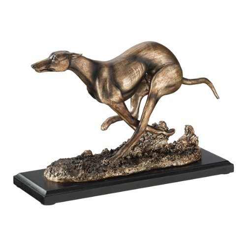 Greyhound Art Deco Dog Statue Sculpture Figurine